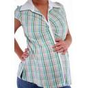 Блузка в клеточку для беременных