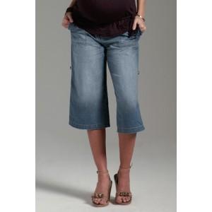 Джинсовые шорты капри для беременных