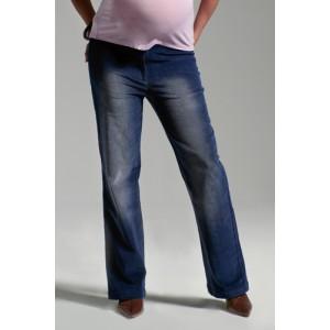 Blue velvet maternity trousers